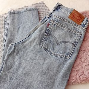 Levi's Wedgie Straight Distressed Cropped Hi Rise